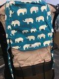 Huckepack Halfbuckle Traghilfe baby elefanten - braun_