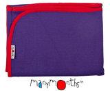 Manymonths Wolldecke - Babydecke Purple Peace_