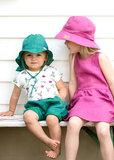 PurePure Kids Schlapphut pine-green_