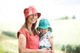PurePure Mütze mit Mini Nackenschutz orchid _