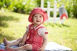 PurePure Mütze mit Mini Nackenschutz mohn rot_