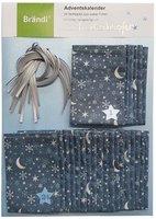 Brändi Adventskalender aus Stoff 24 Stoffsäckli mit Zahlen blau
