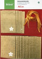 Brändi Adventskalender aus Stoff 24 Stoffsäckli mit Zahlen gold