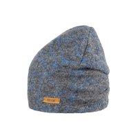 PurePure Mini-Beanie Walk grau-blaue Linien