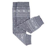 Stulpen aus Kaschmir/Merino Wolle Norweger grau