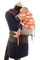 Huckepack Halfbuckle Traghilfe medium hellbraun/orange Bären