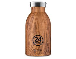 24 Bottles Thermosflasche Clima 0.33 l Sequoia Wood