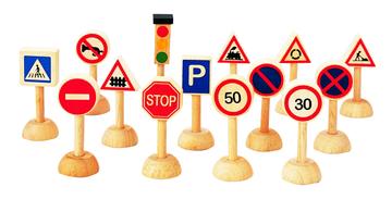 Plan Toys PlanWorld Verkehrszeichen-Set