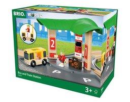 BRIO Eisenbahn Bus- und Zug-Bahnhof