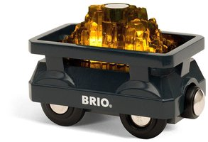 BRIO Eisenbahn Goldwaggon mit Licht
