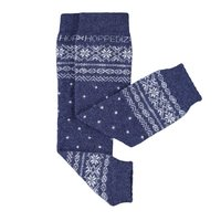 Stulpen aus Kaschmir/Merino Wolle Norweger blau