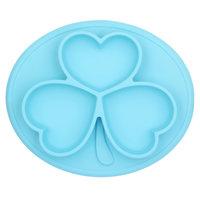Silikon Essmatten oval blau