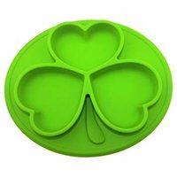 Silikon Essmatten oval grün