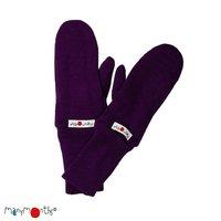 Manymonths Woll-Handschuhe Majestic Plum