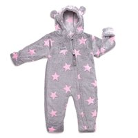 Fleece Overall grau-rosé