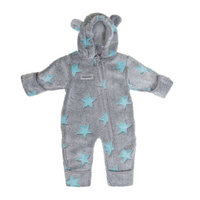 Fleece Overall grau-blau