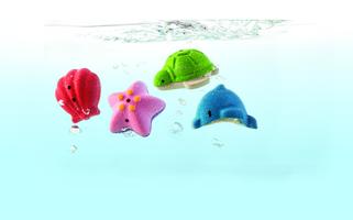 Badeset - Vier Meerestiere