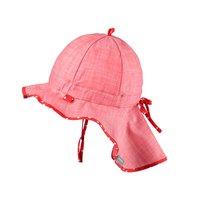 PurePure Mütze mit Mini Nackenschutz mohn rot