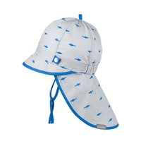 PurePure Cap mit Mini Nackenschutz Steingrau Hai