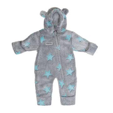 Fleece Overall grau-blau