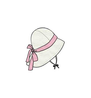 ManyMonths Adjustable Summer Hat mit Schleife natural