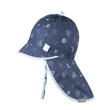 PurePure Cap mit Mini Nackenschutz Marine