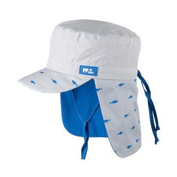 PurePure Mütze mit Mini Nackenschutz Steingrau Hai