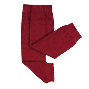 Stulpen aus Kaschmir/Merino Wolle rot