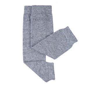 Stulpen aus Kaschmir/Merino Wolle grau