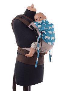 Huckepack Halfbuckle Traghilfe baby elefanten - braun