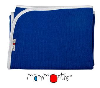 Manymonths Wolldecke - Babydecke  Fjord Blue