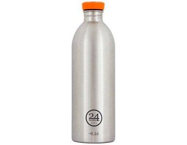 24 Bottles Trinkflasche Urban 1000 ml Steel Silber