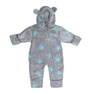 Fleece Overall blau sterne