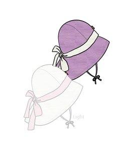 ManyMonths Adjustable Summer Hat mit Schleife sheer violet