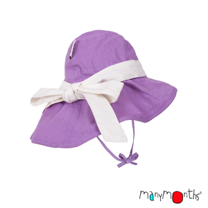 ManyMonths Adjustable Summer Hat mit Schleife sheer violet